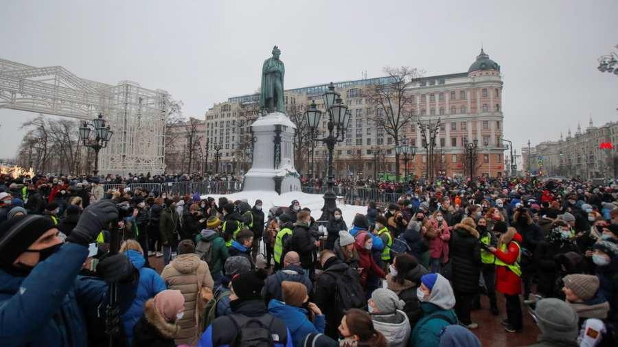 Moszkva tüntetés Navalnij mellett