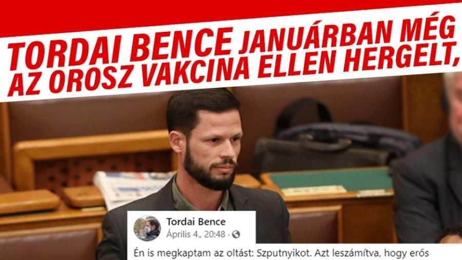 Vízfejű Tordai is az orosz vakcinával oltatta be magát